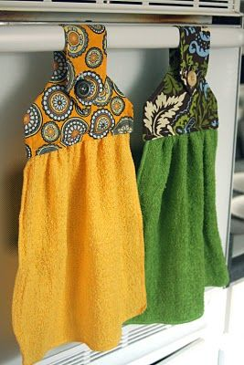 Tutorial for hanging kitchen towel sewing pinterest - Hanging kitchen towel tutorial ...