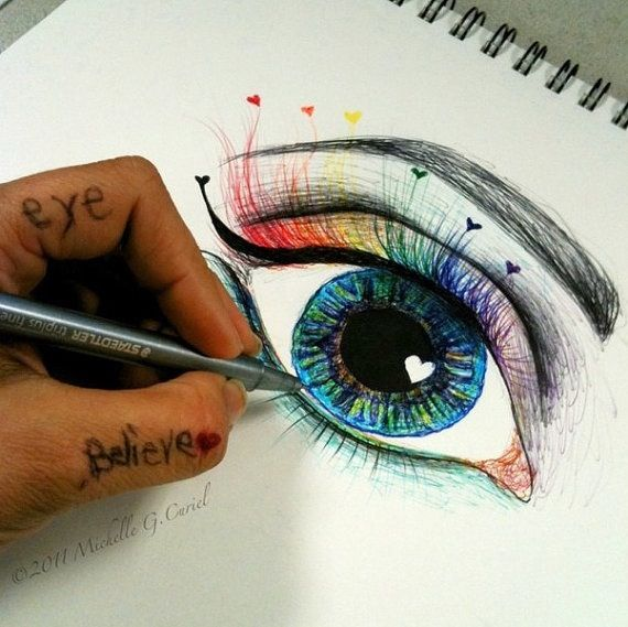 How to draw an eye art projects pinterest for Draw really cool stuff