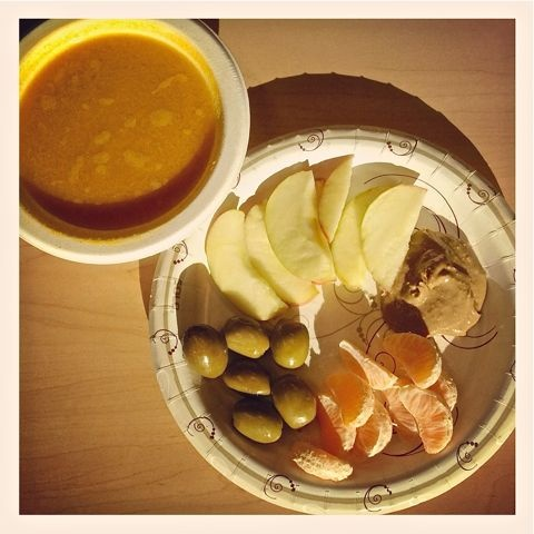 Whole30 Food Journal. Lunch: Provencal seafood bisque (from my frozen ...