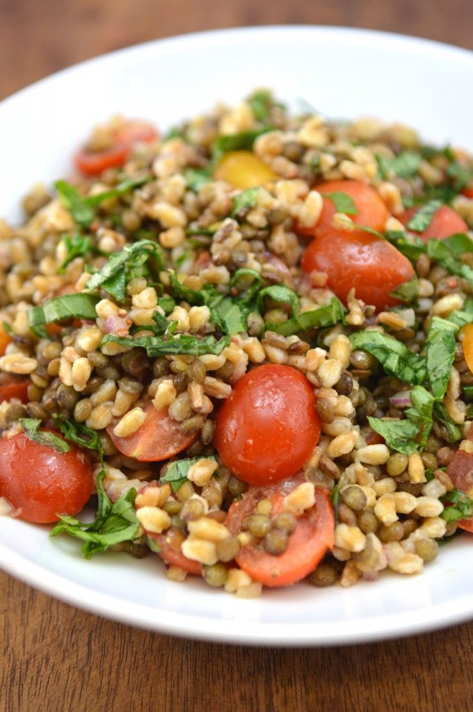 Farro And Cherry Salad With Champagne Vinaigrette Recipes — Dishmaps