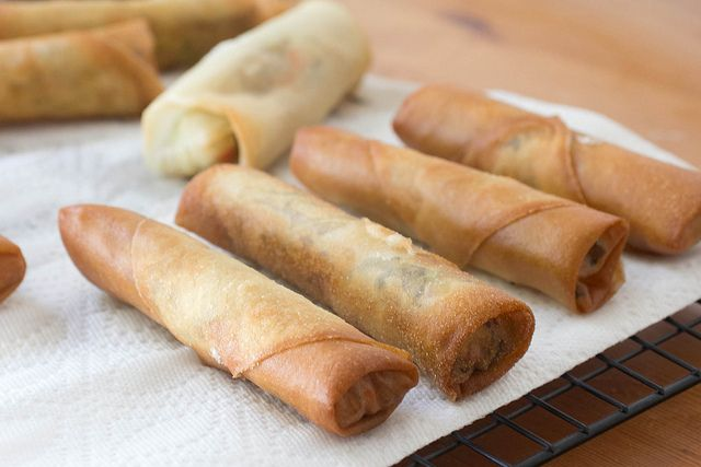 Vegetarian Fried Spring Rolls | recipes to make... | Pinterest