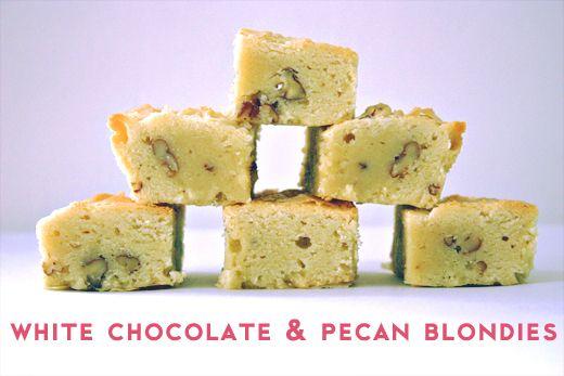 white chocolate & pecan blondies | Les Gourmandises | Pinterest