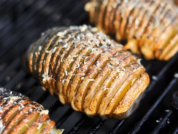 Grilling: Hasselback Potatoes with Garlic and Parmesan | Serious Eats ...
