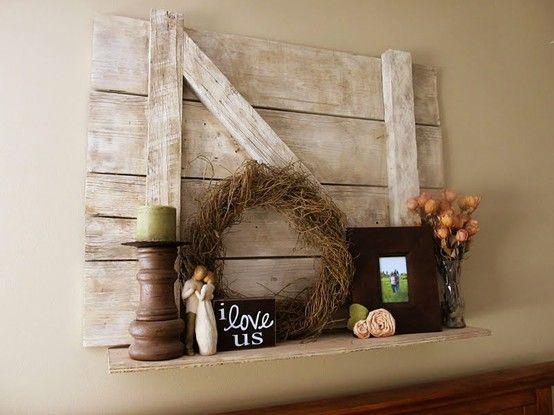 Barn board shelf crafts good ideas pinterest for Decor barn doors
