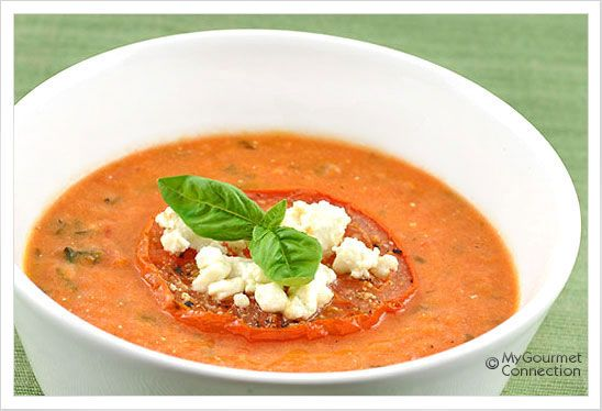 Creamy Tomato Soup with Goat Cheese: Cream of tomato soup gets a ...