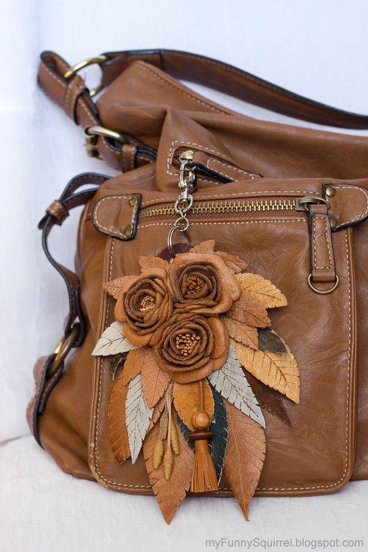 Украшение на сумку из кожи своими руками