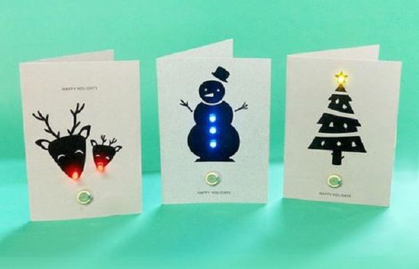 Make your own led christmas cards christmas card ideas for Make your own christmas cards ideas