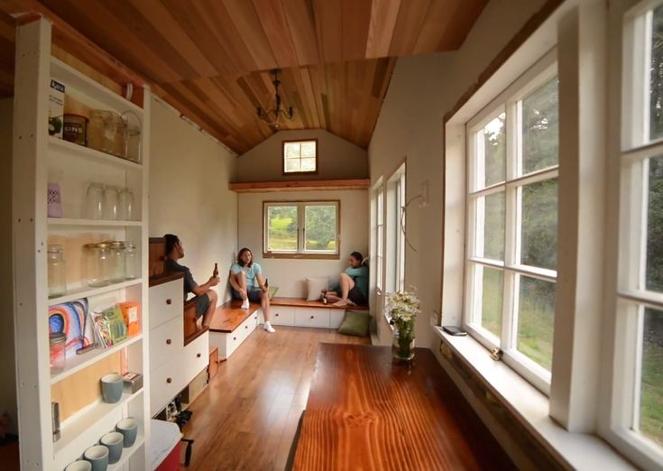 A peek inside lucy shaye and tom 39 s tiny house - Interior for small house ...