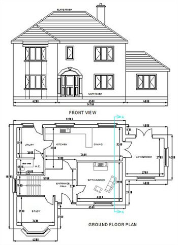 Home Drawing House Design