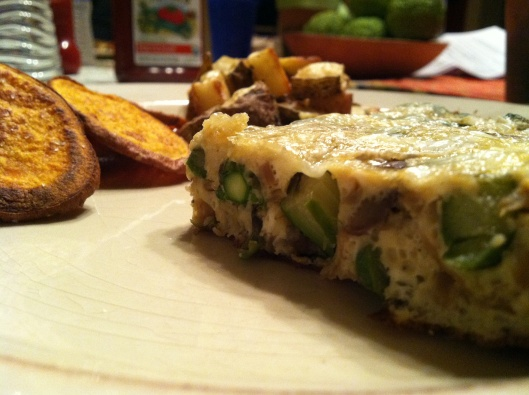 Asparagus and Mushroom Frittata | FOOD! | Pinterest