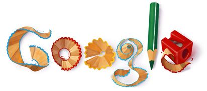 Google Doodle pencils