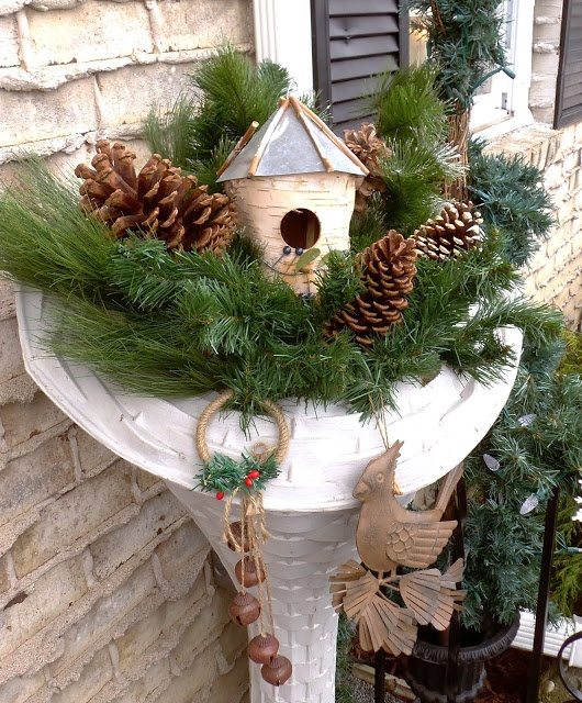 Winter Backyard Ideas : DEBBIEDABBLE Outdoor Winter Decor 2013  outdoor spaces  Pinterest
