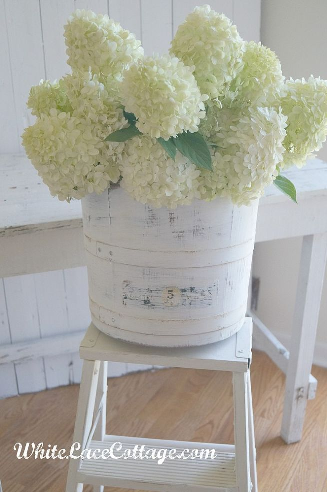 DIY:: Vintage Ice Cream Bucket to Shabby Chic Beauty ! (Easy Tutorial) by @Anne whitelacecottage
