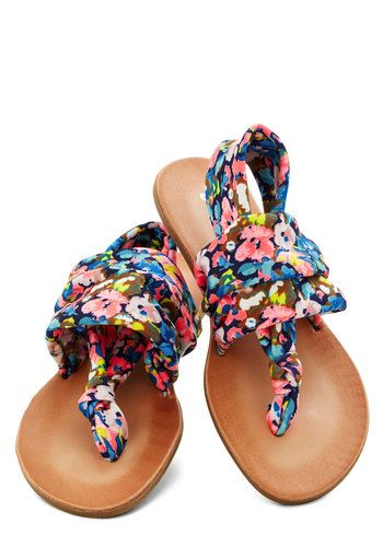 Stay in the Loop Sandal in Navy Floral by: DIRTY LAUNDRY