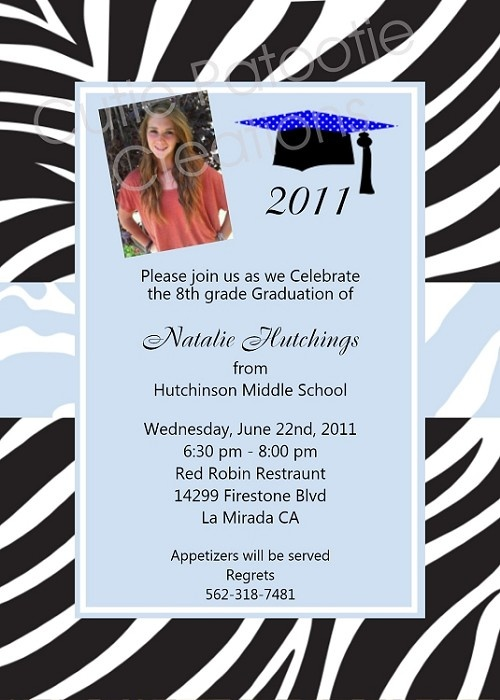 8Th Grade Graduation Invitations for your inspiration to make invitation template look beautiful