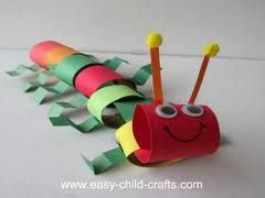"""Caterpillar craft. Would be great to make after reading Eric Carle's """"The Very Hungry Caterpillar"""" :)"""