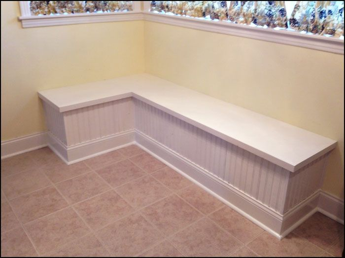 Corner booth in the kitchen but instead have the seats come up like a piano bench for extra - Kitchen corner booth ...