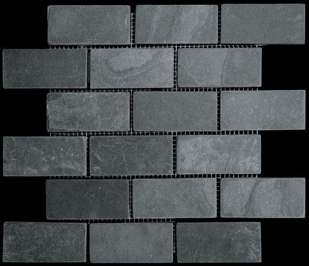 discount glass tile store slate tile 2x4 black