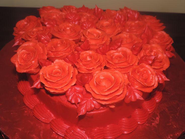 valentine rose basket