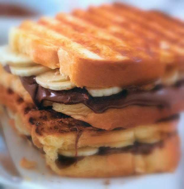 nutella banana panini | Foods to Try | Pinterest