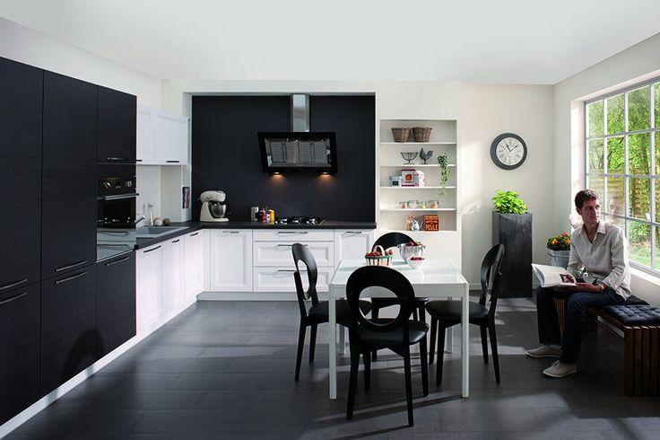Cuisine PURE - Gamme Les Tentations #Cuisinella New Home - agencement de cuisine ouverte