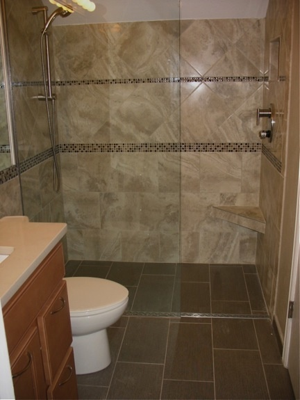 Another Curbless Shower For The Home Pinterest
