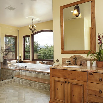 bathroom old is new spanish style beautiful baths