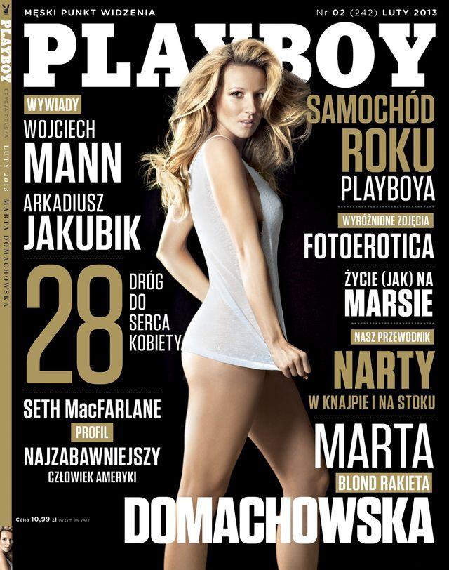 Marta Domachowska poses for Playboy