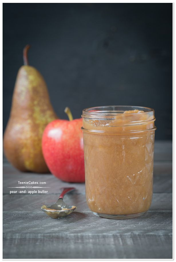 Homemade Pear and Apple Butter - slow cooker   TeenieCakes.com #autumn ...