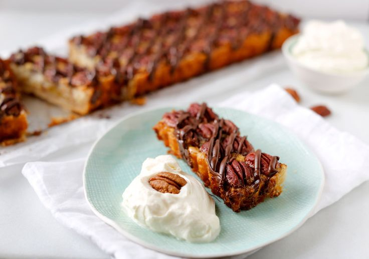 ... pies-tarts/Pecan-Pie-Tart-with-Praline-Cream ☀CQ #southern #recipes