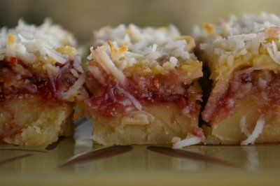 ... Cookies a.k.a. Raspberry Coconut Bars. These are honestly to die for
