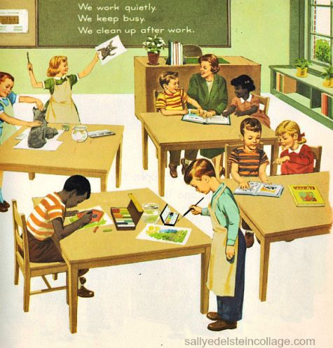 Cute vintage classroom pic
