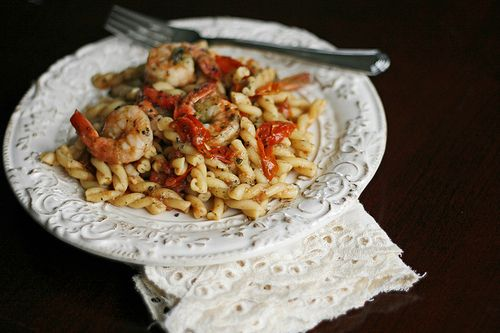 Shrimp, Basil and Tomato Pasta with Manchego Cheese - Sarah's Cucina ...