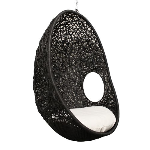 hanging pod chair outdoor ebony it 39 s in the details