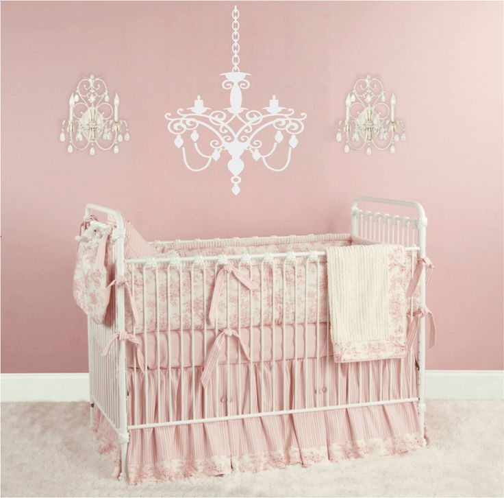 chandelier vinyl wall decal baby nursery wall decal for. Black Bedroom Furniture Sets. Home Design Ideas