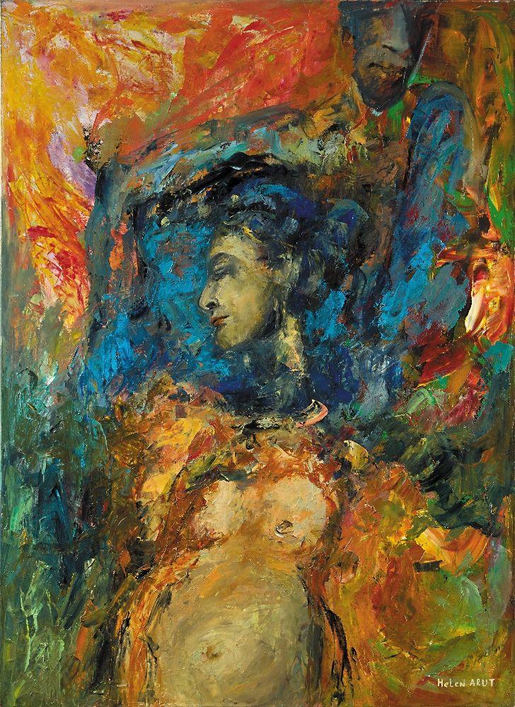 Helen Arut, Touch me - nr 9, olej na płótnie
