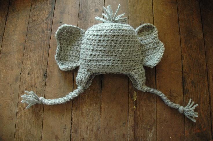 Elephant Ears Knitting Pattern : Elephant ears crochet hat - newborn Crochet Pinterest