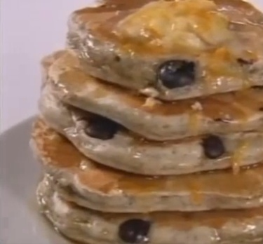 Blue Corn Pancakes with Orange Honey Butter and Cinnamon Maple Syrup ...
