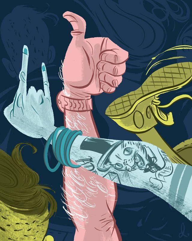 dibujar manos excéntricas y exageradas 13