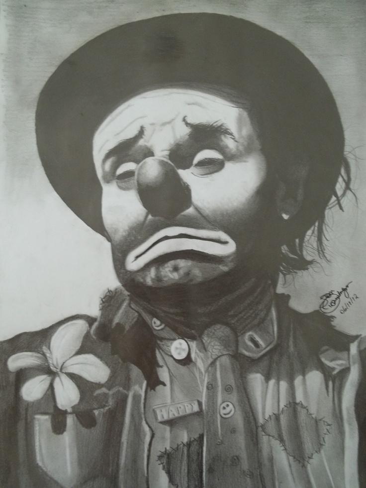 sad clown | My pencil drawings | Pinterest