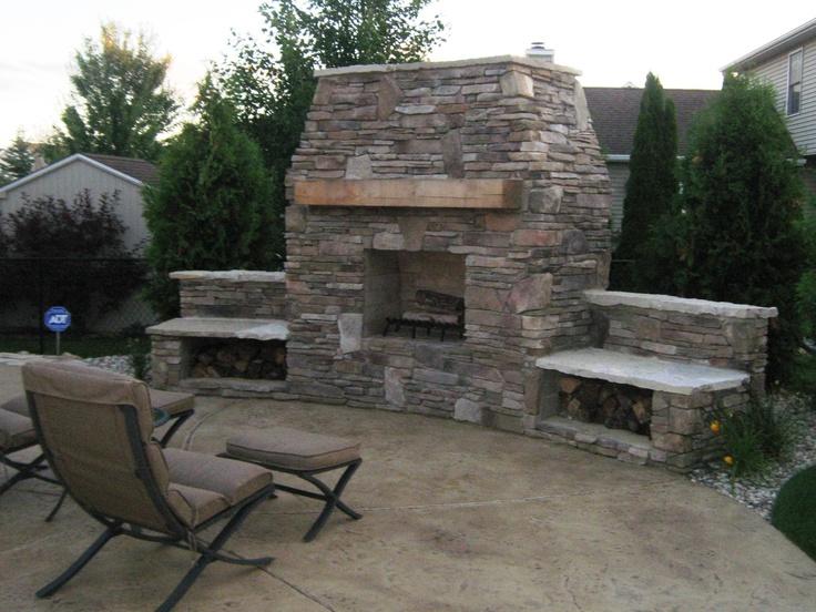 Outdoor Fireplace Landscape Design Pinterest