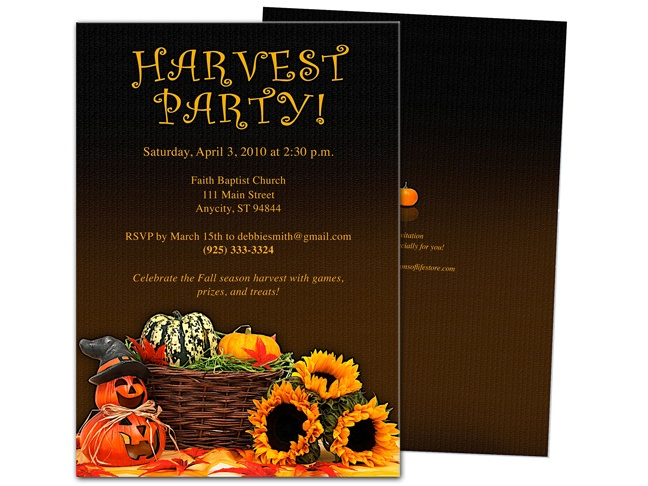 harvest party invitations