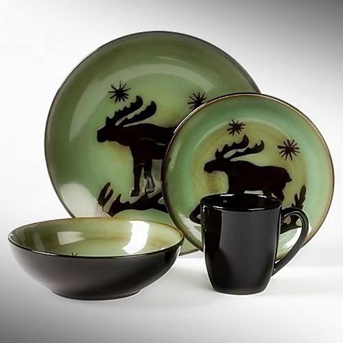 16pc tabletops gallery wildlife dinnerware set lodge moose cabin nort . & Wildlife Dinnerware - Animal Wildlife