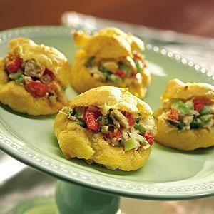 Chicken Salad Puffs | On or Between Bread | Pinterest