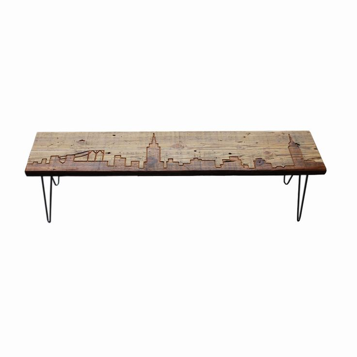 ... shame to sit on this... New York Reclaimed Wood Bench  dotandbo.com