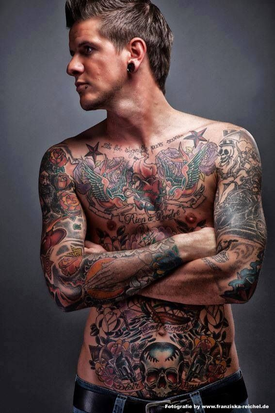 Fully Tattooed A Man With Tattoos Pinterest