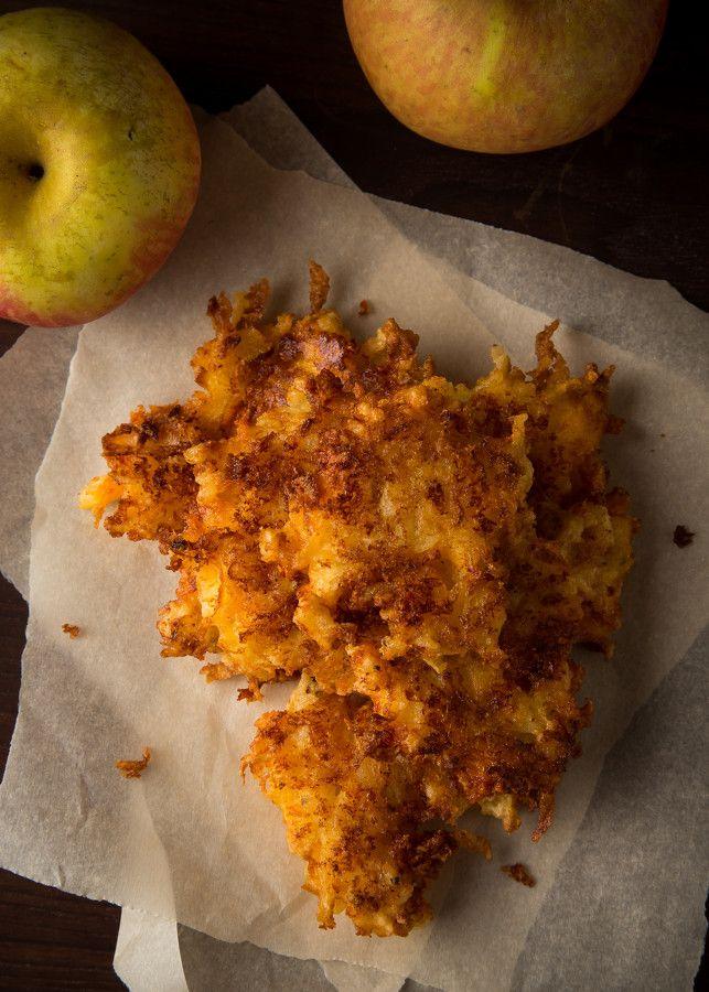 Apple Cheddar Latkes | Hanukkah | Pinterest