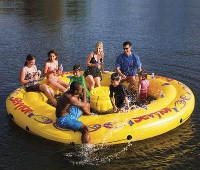 Inflatable Water Island - seats 8 and has a removable cooler for drinks!