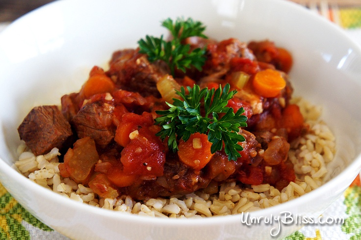 Slow-Cooker Beef and Tomato Stew | Crock Pot Dinners | Pinterest
