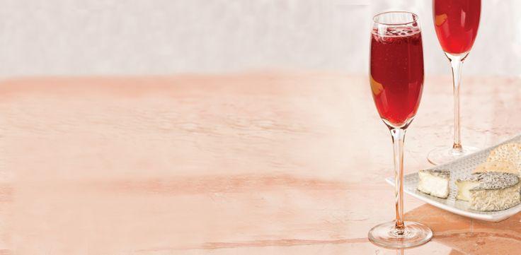 Blueberry Pomegranate Sparkler + Bonne Bouche #CheesePlus